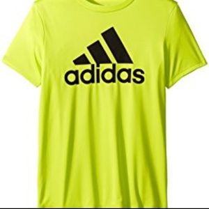 Adidas highlighter yellow short sleeve tee
